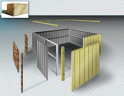 dumpster enclosure components