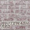 whitewash red brick color