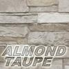 almond taupe stone color