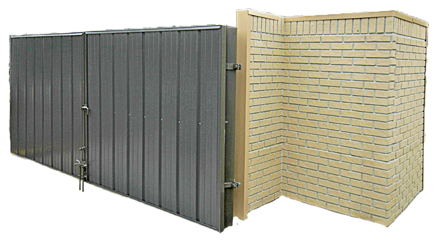 brick dumpster enclosure