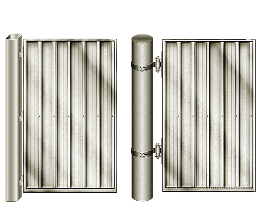 gates with standard posts and heavy duty posts