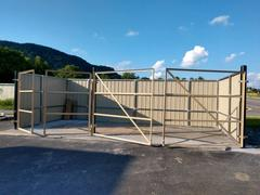 metal dumpster enclosure and gate framing