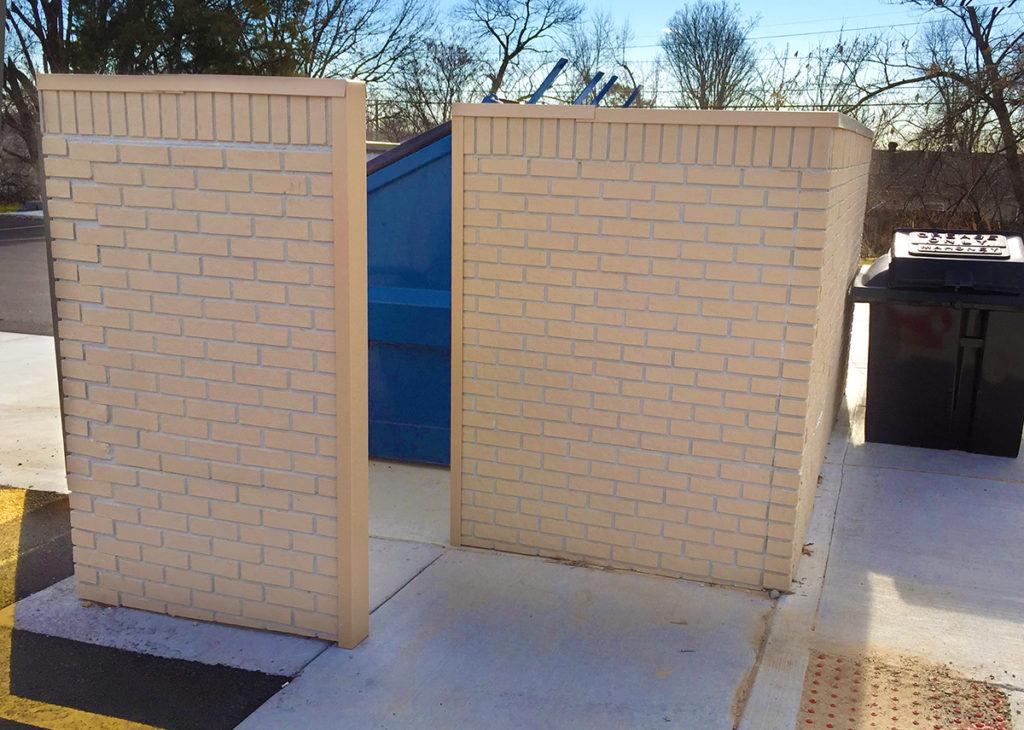dumpster enclosure with man door