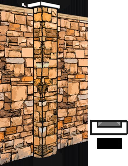 stone pilasters