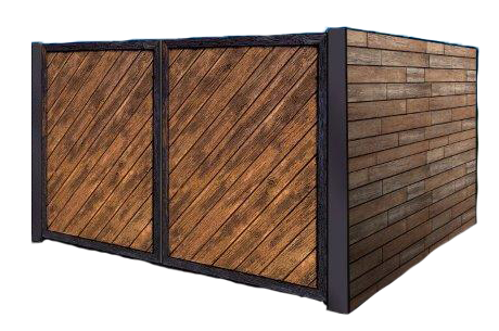 wooden dumpster enclosure